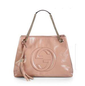 Gucci Bags - Gucci Soho Medium Patent Leather Tote
